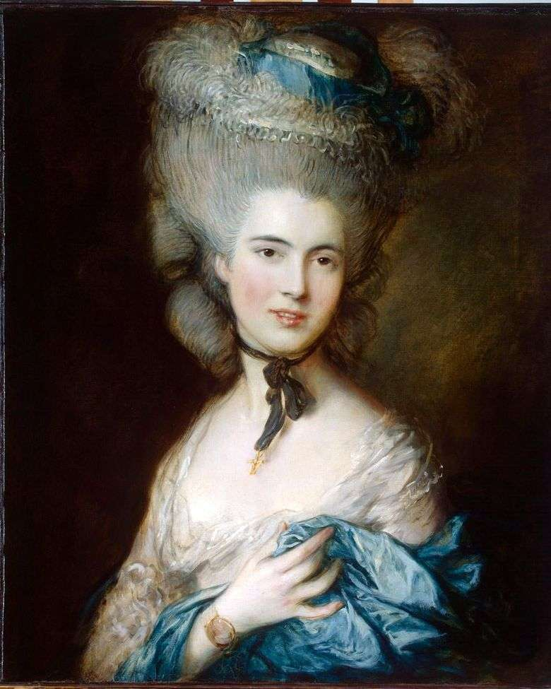 Portret księżnej Beaufort (Lady in Blue)   Thomas Gainsborough