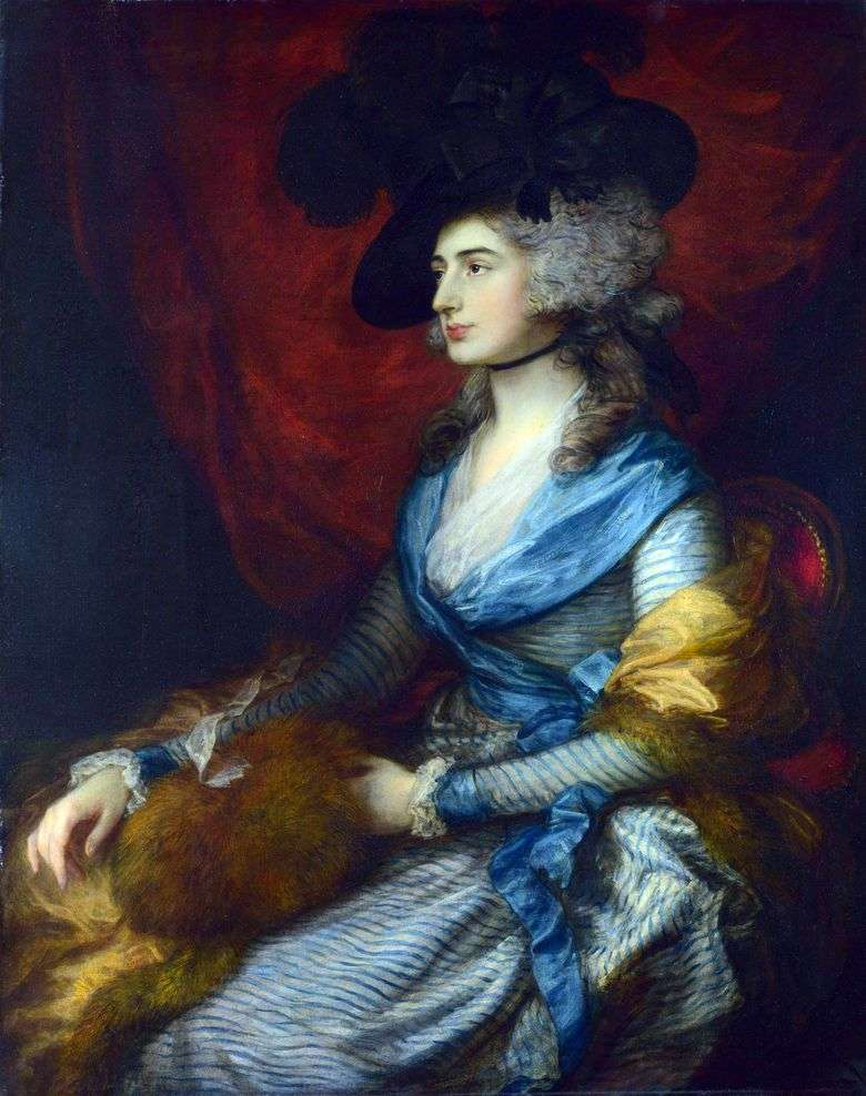 Portret Sary Siddons   Thomas Gainsborough