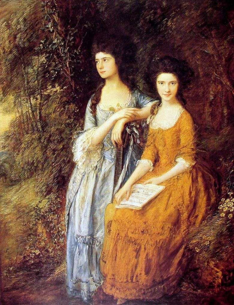 Portret Elizabeth i Mary Linley   Thomas Gainsborough