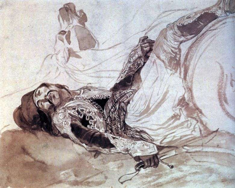 Wounded Greek Fallen from Horse   Karl Bryullov