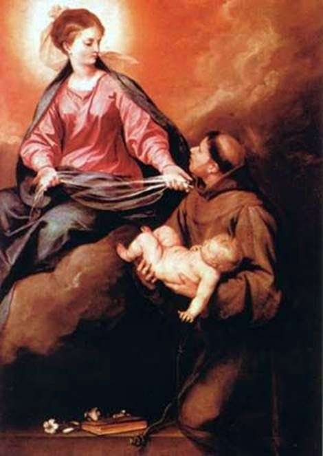 Wizja sv. Antonio Mother of God with Child   Alonso Cano
