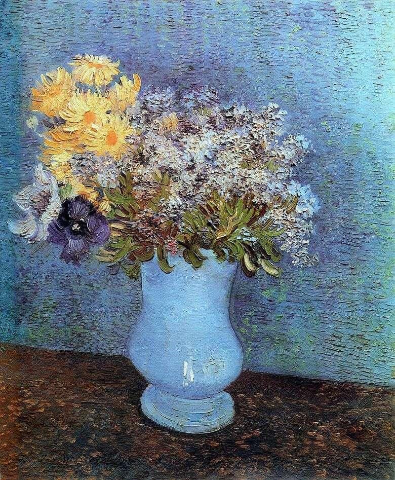 Wazon Z Bzem Stokrotkami I Zawilcami Vincent Van Gogh Van Gogh Vincent
