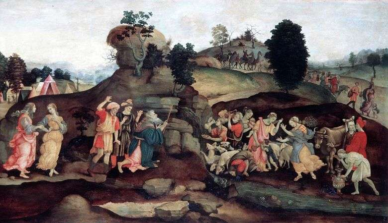 Moses Mining Water from a Rock   Filippino Lippi