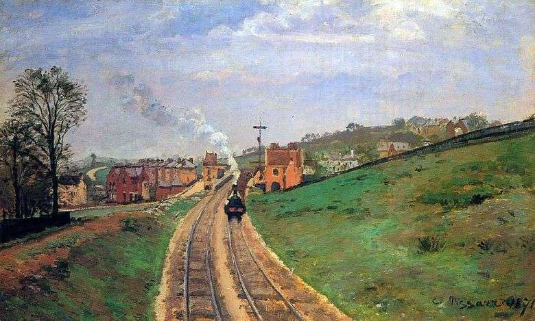 Lane Lordship Station w Dulwich   Camille Pissarro