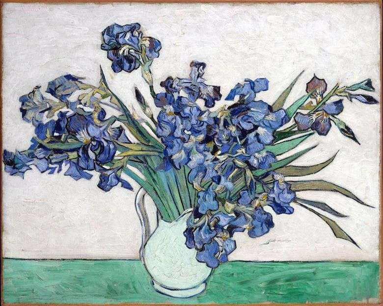 Martwa Natura Waza Z Irysami Vincent Van Gogh Van Gogh Vincent