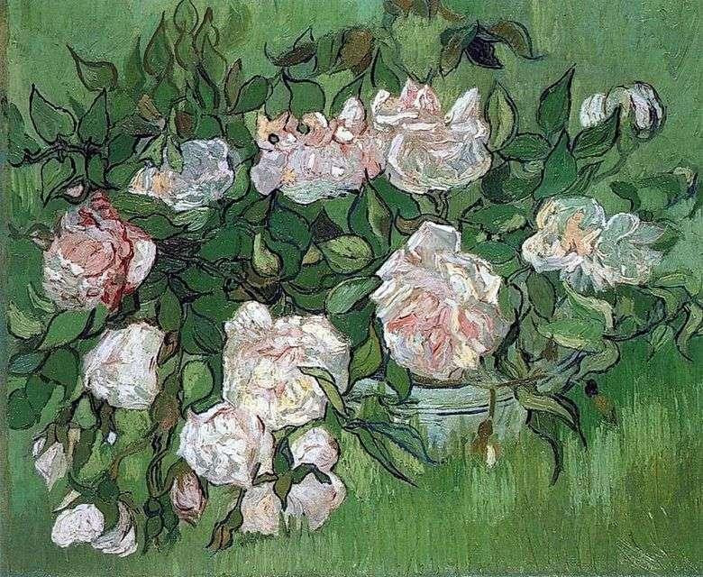 Still Life Pink Roses Vincent Van Gogh Van Gogh Vincent