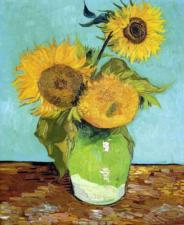 Trzy Sloneczniki W Wazonie Vincent Van Gogh Van Gogh Vincent
