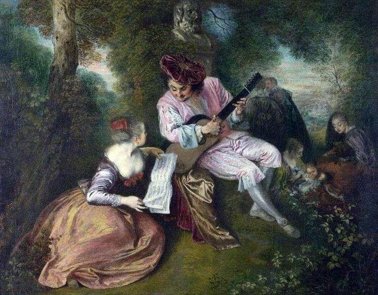 Miłość Gamma Jean Antoine Watteau Opisy Obrazów