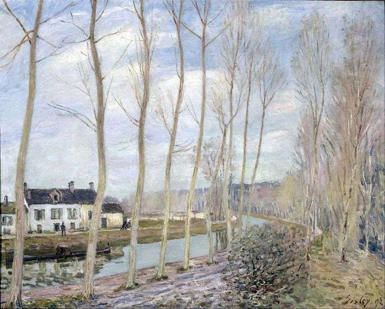 Luen Canal in the Sea   Alfred Sisley