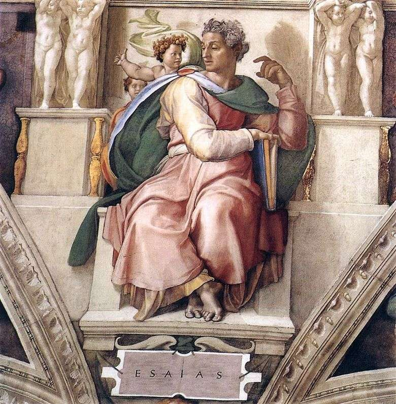 Prorok Izajasz (Fresk) – Michelangelo Buonarroti ❤️ - Michał Anioł