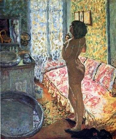 Model w Contrapost   Pierre Bonnard