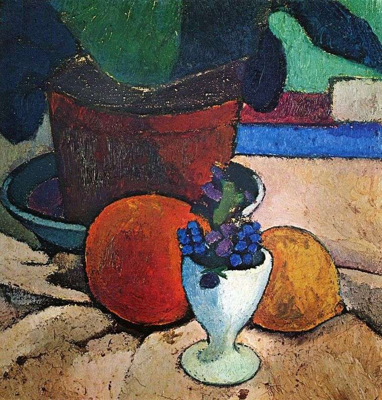 Martwa natura z Houseplant, Lemon i Orange   Paula Modersohn Becker