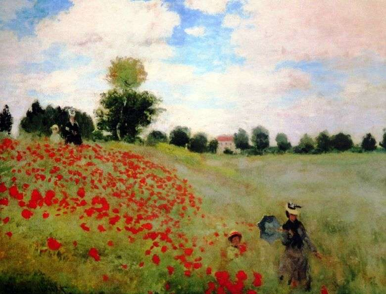 Poppy Field   Claude Monet